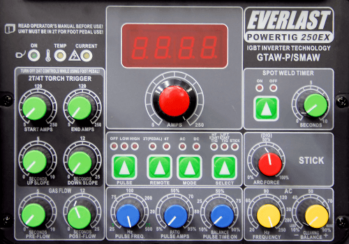 Everlast Power Equipment Pulse Welder Control Panel