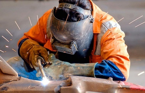 Welding With Safety Gear